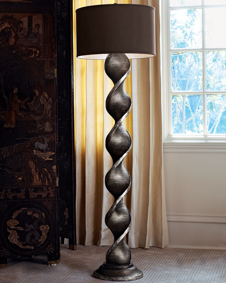 Twisted Column Floor Lamp