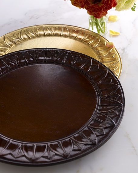 """""""Sun"""" Wooden Charger Plate"""