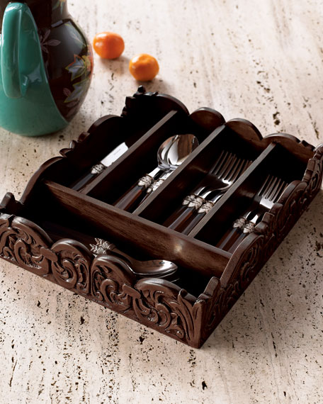Wooden Flatware Caddy