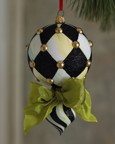 Harlequin Double Drop Christmas Ornament