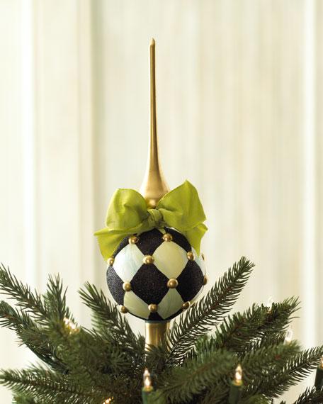 """""""Harlequin"""" Christmas Tree Topper"""