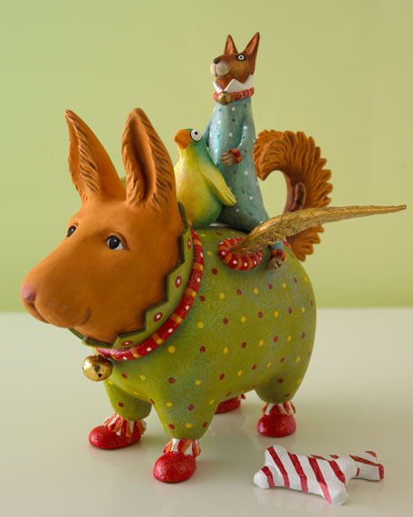 """Terrier Carrier"" Christmas Figure"