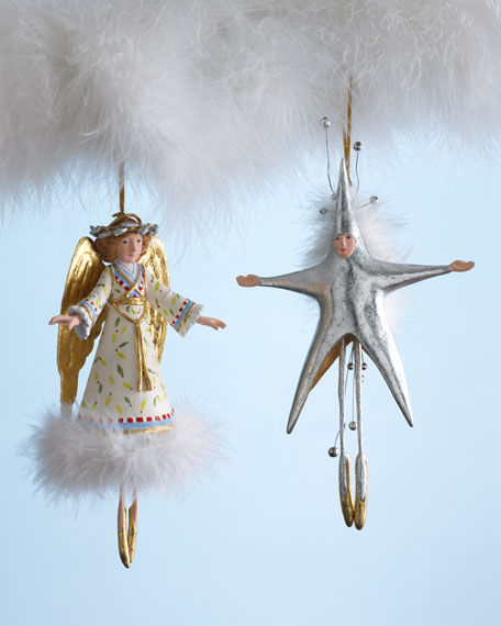 """Star"" & ""Heavenly Angel"" Holiday Ornaments"