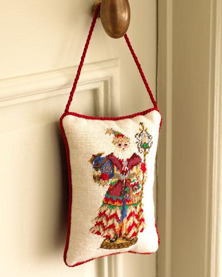 """Lighthouse Santa"" Needlepoint Door Hanger"