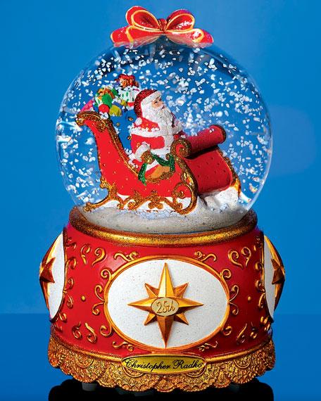 """Celebrating Santa"" Christmas Snow Globe"