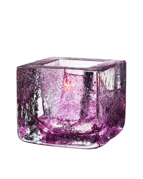 Purple Brick Votive Holder