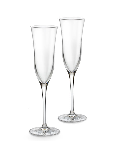 "Two ""Light"" Champagne Flutes"