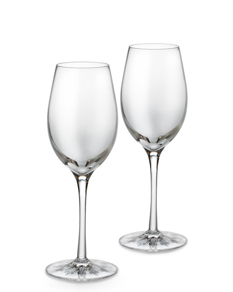 "Two ""Light"" White Wine Glasses"