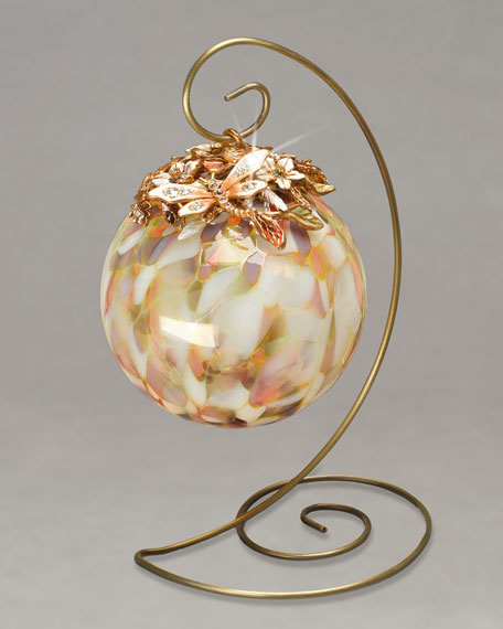 Glass Ball Ornament & Stand, Large