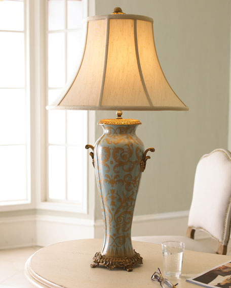 Azure Filigree Lamp