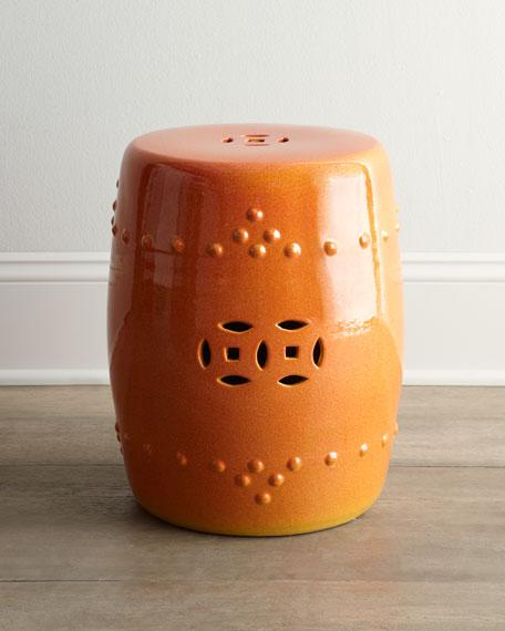 Orange Garden Stool