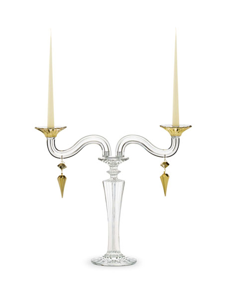 Mille Nuits D'Or Candelabra, Two-Light