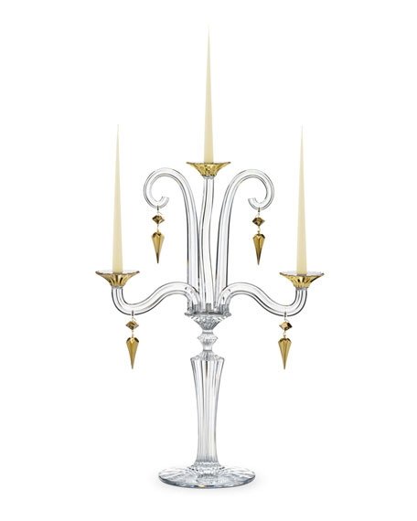 Mille Nuits D'Or Candelabra, Three-Light