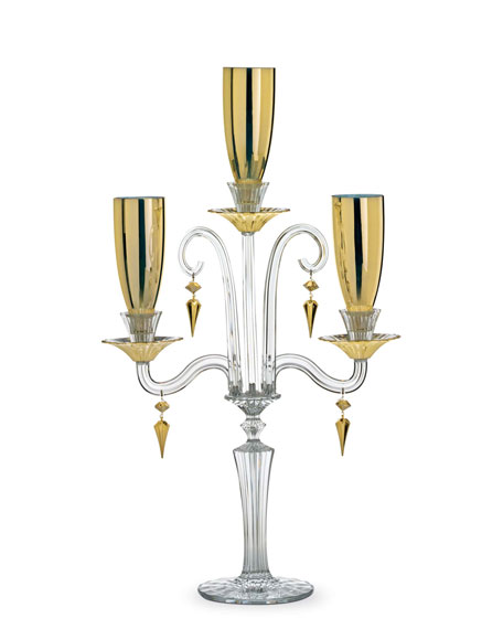 Mille Nuits D'Or Candelabra & Shades, Three-Light