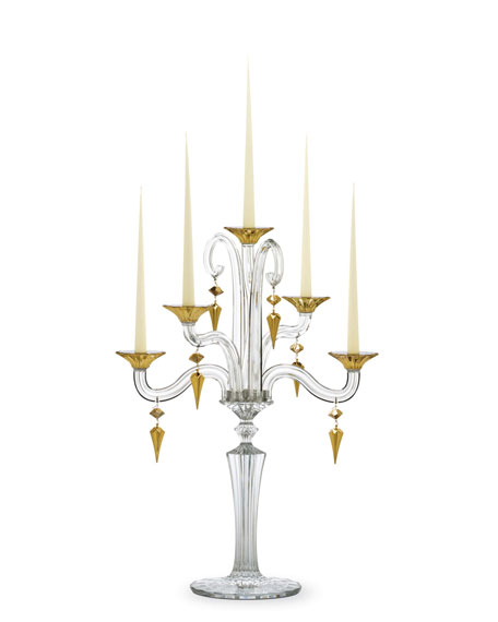 Mille Nuits D'Or Candelabra, Five-Light
