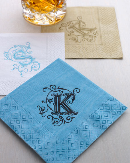 Letterpress Personalized Cocktail Napkins