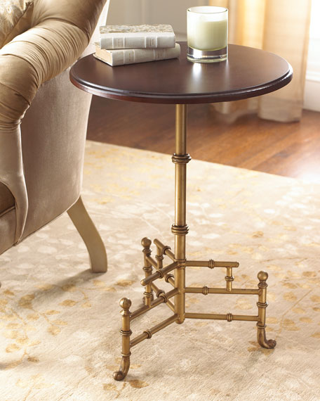 Fretwork & Cane Side Table