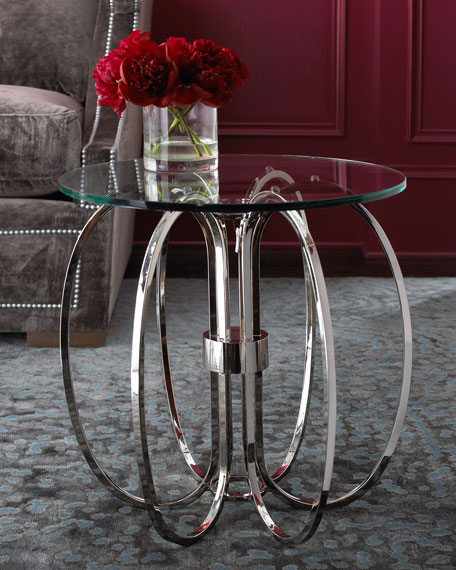 Silver & Glass Side Table
