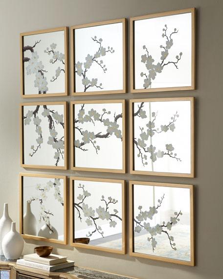 Nine Blossom-Painted Mirrors