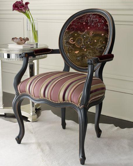 Purple Stripe Chair