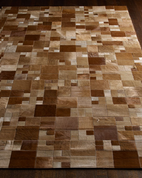 """Abstract Block"" Hide Rug"