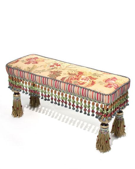 Tassel Tapestry Bench