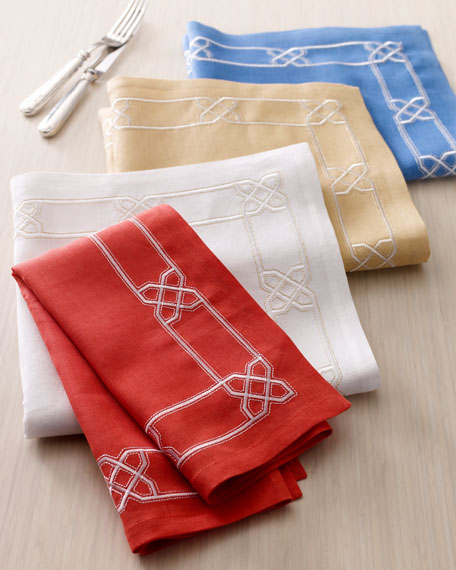 "Four ""Lattice"" Napkins"