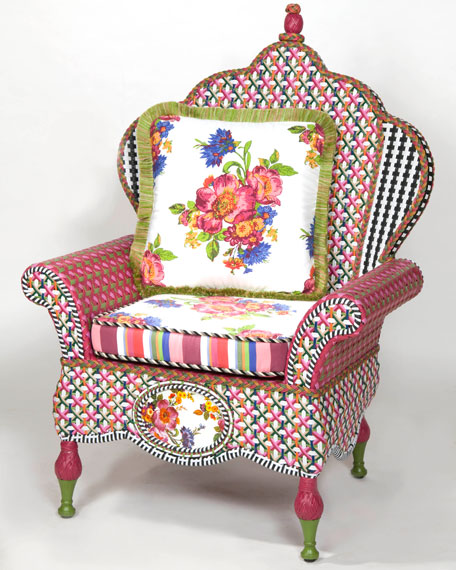 """Flower Market"" Wing Chair"