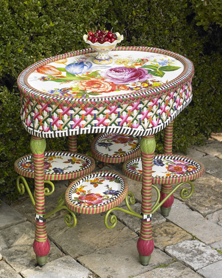 """Flower Market"" Side Table"