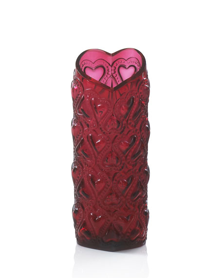 """Red """"Amour"""" Vase"""