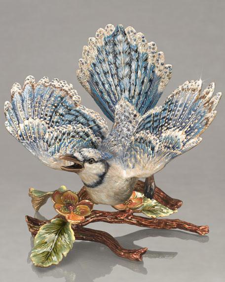 """Courbett"" Blue Jay on Branch Figure"