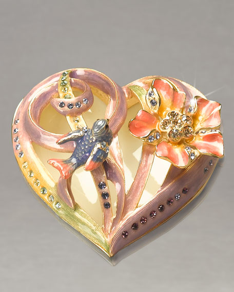 """Audrey"" Floral Heart-Shaped Box"