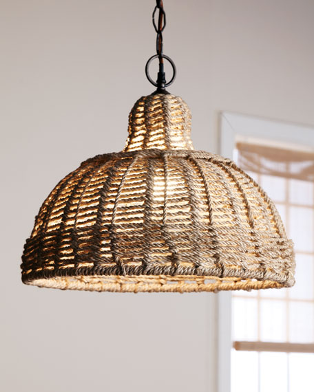 Jute-Shade Pendant Light
