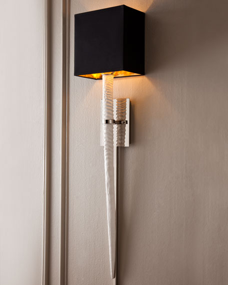 "White ""Stingray"" Sconce"