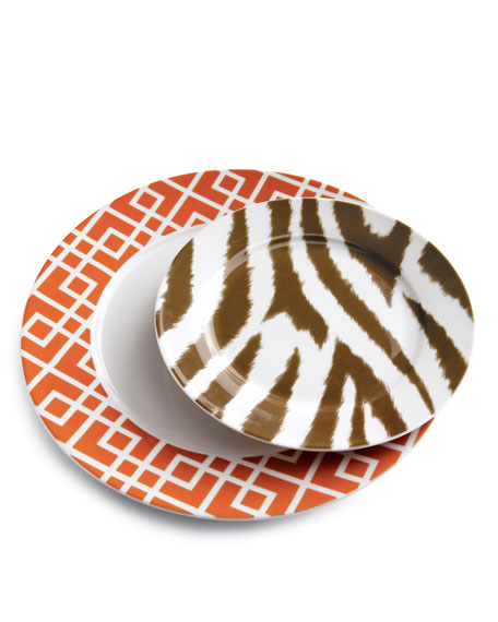 12-Piece Geometric Animal Dinnerware Service
