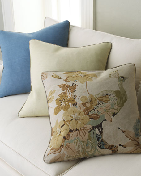 Floral Peacock Pillow Group