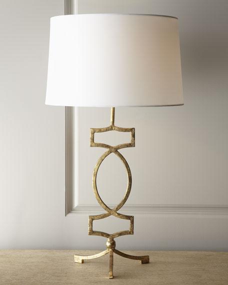 Gold-Leaf Iron Lamp