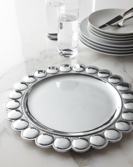 """Large Beads"" Charger Plate"