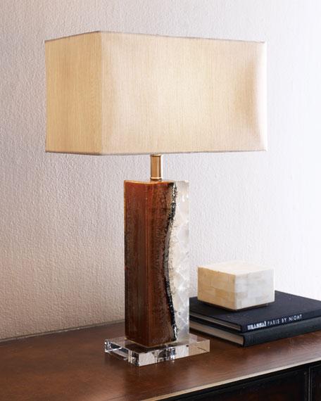 Burn Wood Table Lamp