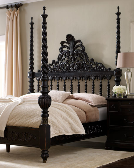 """Phillips"" King Poster Bed"