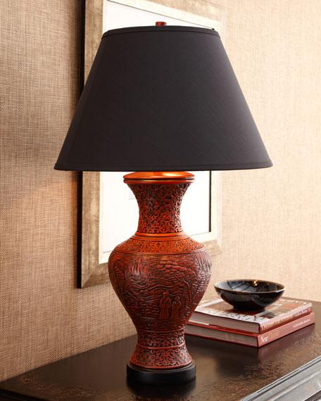 """Red Cinnabar"" Lamp"