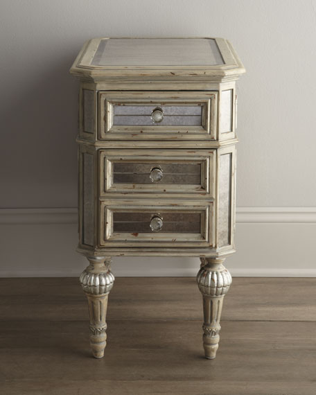 """Dresden"" Mirrored Side Table"