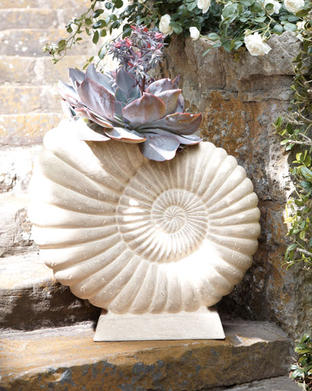 """Nautilus"" Shell Planter"