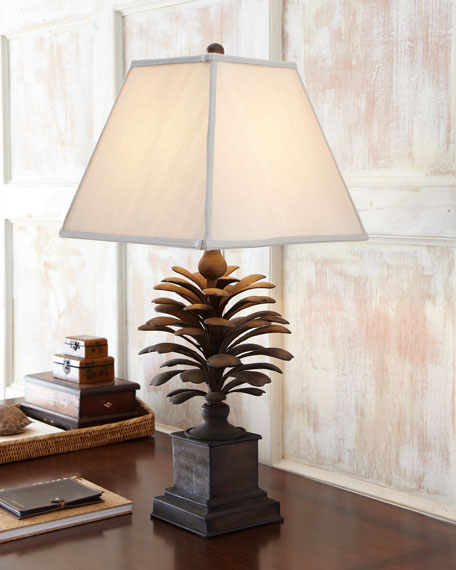 """Burnished Pine Cone"" Lamp"