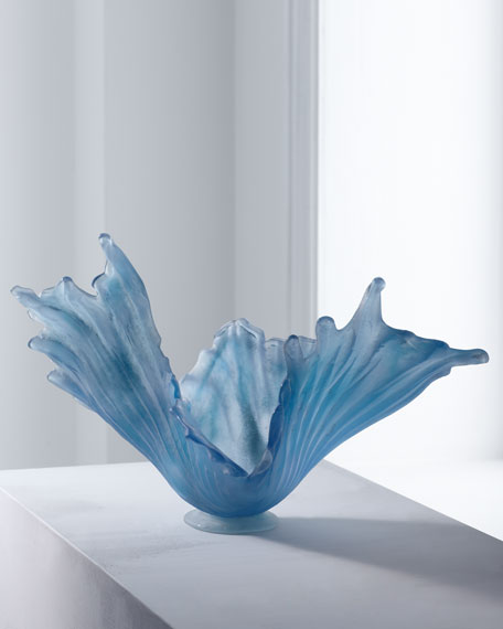 Pale Ice Glass Bowl