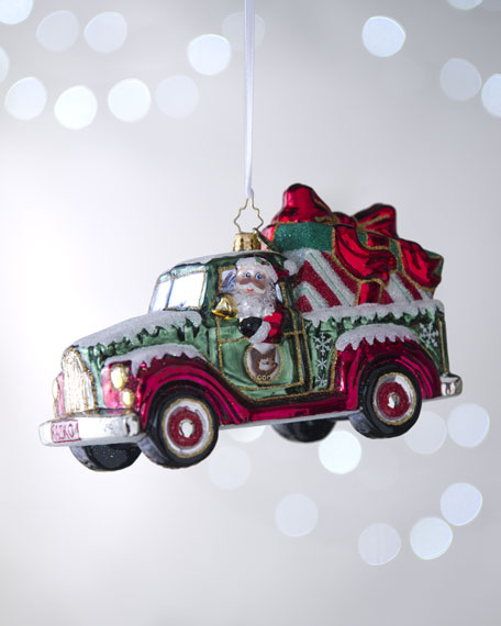 """Heavy Load"" Santa Truck Ornament"