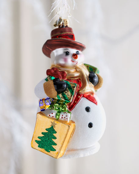 """5th Avenue Frosty"" Snowman Ornament"