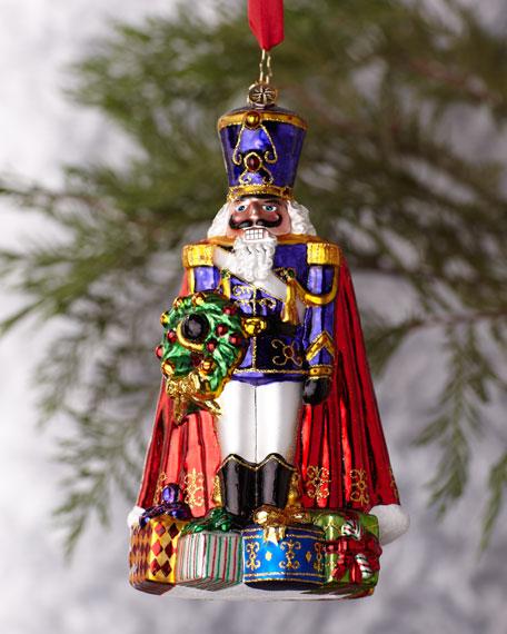 """""""Aubergine Guard"""" Nutcracker Ornament"""