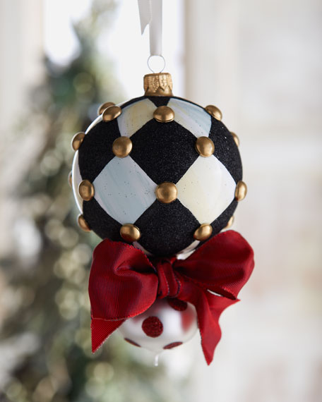"""Peppermint Double-Drop"" Christmas Ornament"