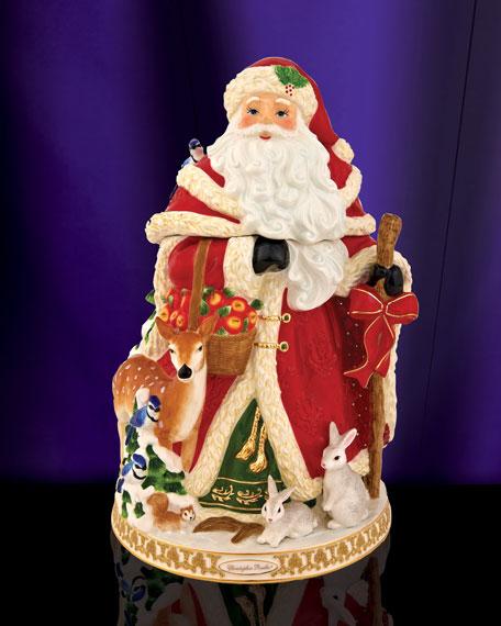 """""""Winter Forest Santa"""" Cookie Jar"""